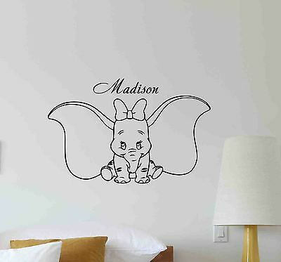 dumbo *choose your size*decal removable vinyl wall sticker decor