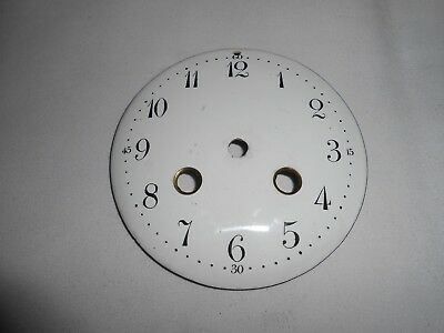 Antique French Strike 10.2 Cm White Enamel Clock Dial In Good Condition.
