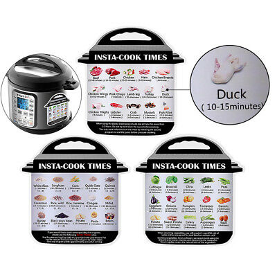 Cheat Sheet Magnet For Instant Pot Accessories Home Kitchen 4 Packs Decals