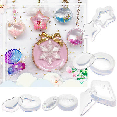 Translucent Silicone Mold Resin Jewelry Making Pendant Mould Epoxy Craft DIY