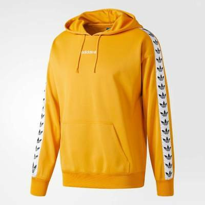 the latest 62fdf 3f979 Adidas Originals Trefoil Logo TNT Tape Pullover Hoodie Yellow BS4669 (Size  S-XL)