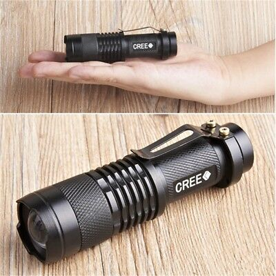 3 Modes UltraFire Mini Tiny Tactical LED Flashlight Torch with Adjustable Focus