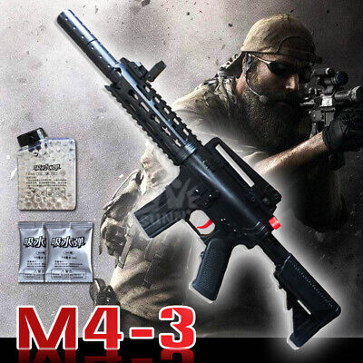 M4-3 Shooting Toys Gun Paintball Soft Bullet Crystal Water Beads Toy for Kids