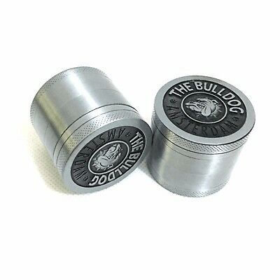 4 Layers Aluminum Herb Grinders Hand Crank Herbal Tobacco Smoke Grinder Bull Dog