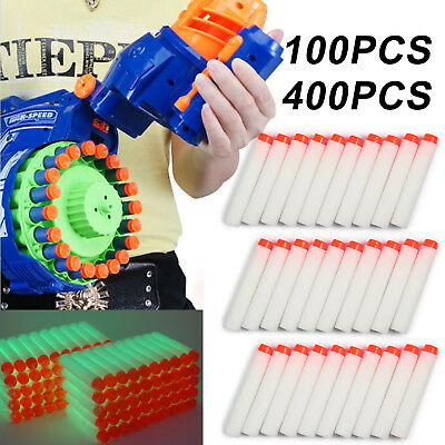 100-400Pcs Nerf Darts Refill Nerf Bullets Round Head Blasters For N-Strike Toy