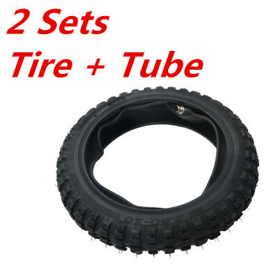 2 Sets  2.5-10'' Front Knobby Tyre Tire + Tube For HONDA CRF50 Dirt Pit Bike