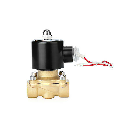 "1/2"" AC110V 120V Electric Solenoid Valve Water Air Gas Viton Normal Closed SW"