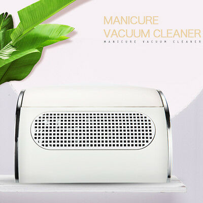 Nail Art Dust Suction Collector 3 Fans Vacuum Cleaner Manicure 220V UK Plug