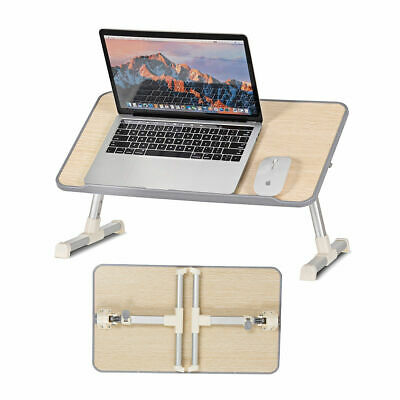 Portable Lap Desk Folding Lazy Laptop Computer Table Adjustable Bed Tray Stand