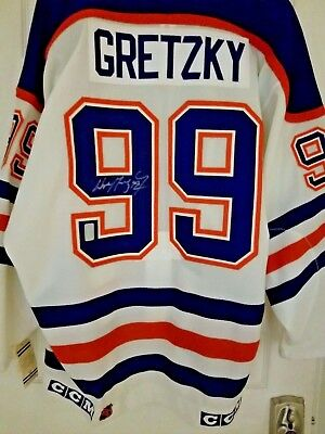 Wayne Gretzky Signed Autographed Jersey Edmonton Oilers Authentic CCM White  WGA 94c627902