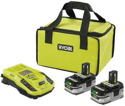 Lithium-Ion Battery Starter Kit 18-Volt W/ 2- Batteries Rapid Charger Bag Tool