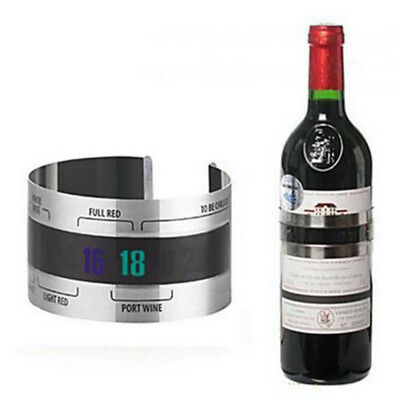Stainless Wine Bottle Thermometer LCD Display Serving Bracelet Party Checker New