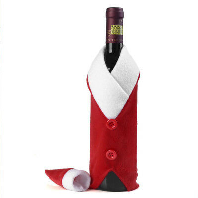 Santa Claus Wine Bottle Cover Bag For Christmas Home Decoration Santa Sack Decor