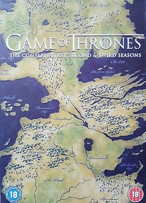 Game Of Thrones - Series 1-3  (2014, 15-Disc Set, Box Set) NOT Blue Ray