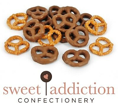 250g Premium Milk Chocolate Covered Pretzels Bulk Party Lollies AUSTRALIAN MADE