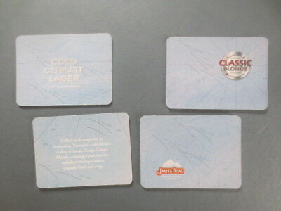 "complete set of 4 BOAGS Brewery,Tasmania.2010 "" cold climate "" beer  COASTERS"