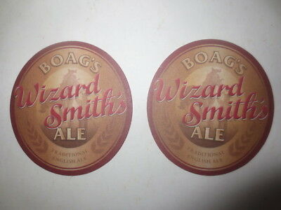 2 the same BOAGS Brewery,Tasmania./ Wizard Smith,s Ale  beer  COASTERS