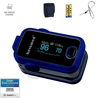 Kernmed OLED Finger Pulsoximeter A310 blau + Alarm + Pulston Oxymeter