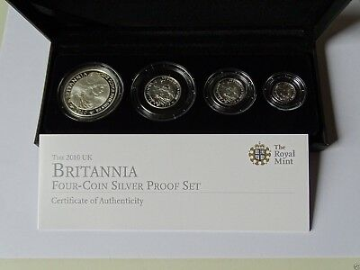 2010 Royal Mint Silver Proof Britannia Four Coin Collection