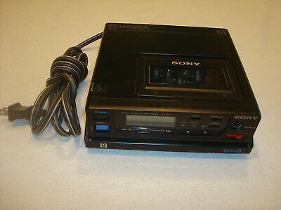 Sony EV-C8u 8mm Recorder/Player deck with ACP-80UC ac adapter
