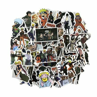 49pcs/Set Mixed Naruto Anime Stickers Decal PVC NO REPEAT For Kids Cool Gift