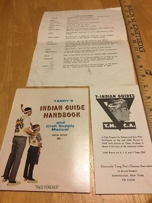 Tandy's Y-Indian Guides Handbook YMCA-1967-1968 Edition-w/ceremony-FREE SHIPPING