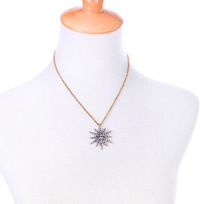 Vintage Art Deco Style Necklace Chain Antique Bronze Star Gatsby Quality Gift UK