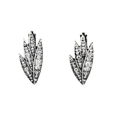 Vintage Art Deco Style Clip On Earrings Silver Diamante Bride Gift Quality UK