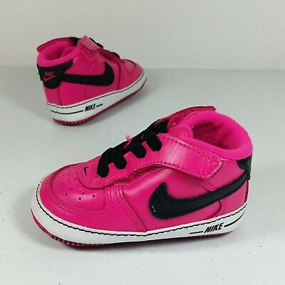 96fc9fb78c Nike Air Baby Force Infant Soft Bottom Crib Basketball Shoes Hot Pink Size  3C