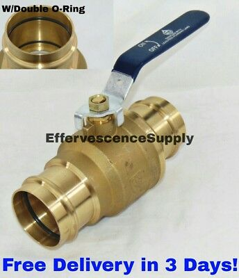 "1-1/2"" Press Brass Ball Valve - ProPress Ball Valve - Lead Free w/Double O-Ring"
