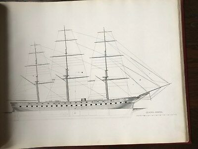 2 Volumes William Webb Plans of Wooden Vessels 1899 Naval Architecture Huge Book