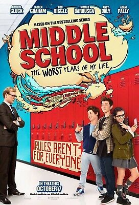 Middle School Worst Years Of My Life - Authentic Original D/S Movie Poster 27x40