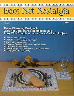 Lace Net Nostalgia Darning Charts Patterns Place Setting Pillow Decor 1984 NEW