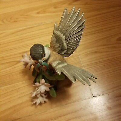 Lenox 2002 Christmas Chickadee Limited Edition Bird Collection