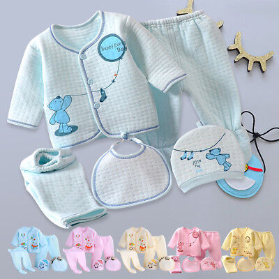 5 Pieces Newborn Baby Boys Girls Clothes Sets Unisex Infant Outfits for Infants