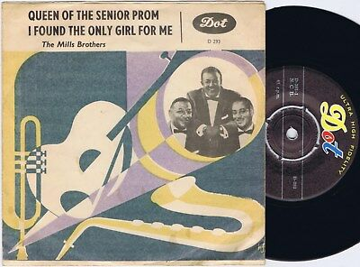 THE MILLS BROTHERS Queen of The Senior Prom Norwegian 45PS 1962