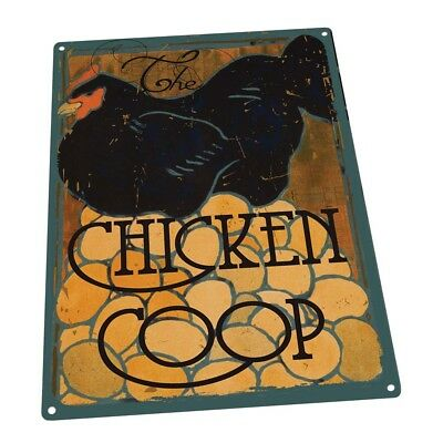 The Chicken Coop Farm, Fresh Eggs and Poultry Metal Sign; Wall Decor for Farm