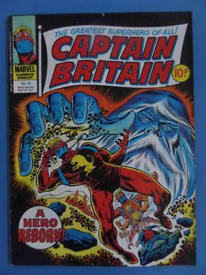 Captain Britain 33* 1977 Uk Marvel!