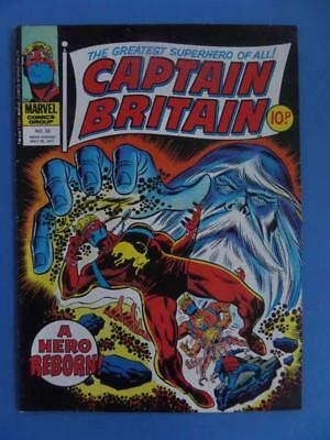 Captain Britain 33 1977 Uk Marvel Nice! Steranko