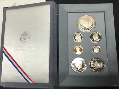 1991 US MINT PRESTIGE PROOF SET MOUNT RUSHMORE Silver Coin Dollar