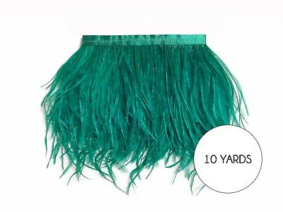 10 Yards - Ocean Green Ostrich Fringe Trim Wholesale Feather Prom Dress Costume