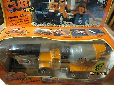 "Vintage New In Box ""The Cub Turbo Remote Control Cement Mixer"""