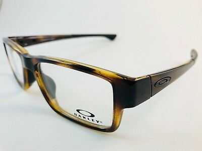 New Authentic OAKLEY Eyeglasses OX 8121 0453 Airdrop MNP Polished brown tortoise