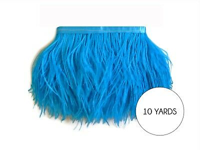 10 Yard - Turquoise Blue Ostrich Fringe Trim Wholesale Feather Halloween Wedding