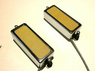 FIREBIRD Pickups SET 2pcs Silver Gold Black FOIL Mini Humbucker Qpickups Deluxe
