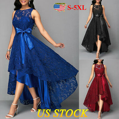 Womens Evening Formal Party Ladies Prom Bridesmaid Lace Long Dress Plus Size