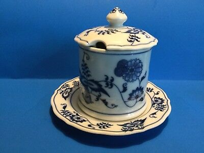 """"""" Blue Danube"""" - Japan -- Jelly Jar With Lid & Under Plate --"""