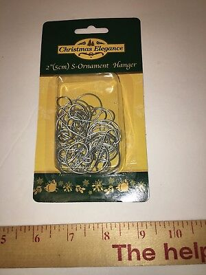 New 25  Silver Colored S-Ornament Christmas Tree Ornament Hooks Hangers, New