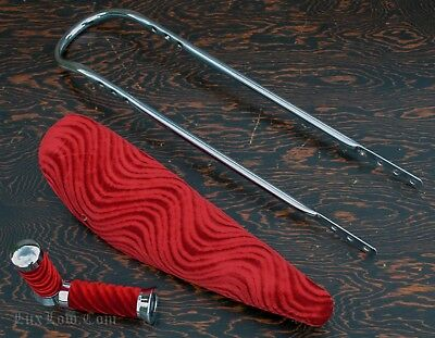 "26/"" Lowrider Banana Bicycle Seats Velour Red-220978"