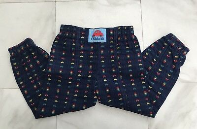 Vintage Oshkosh Pants 4T Boys Blue Cars Made In USA
